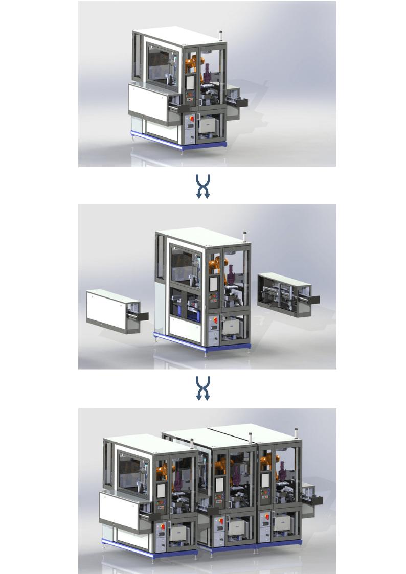Machines spéciales Toulouse Crescendo postes modulaires