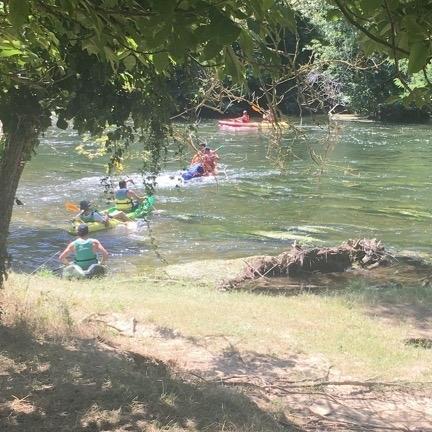 Rivière en ariège la belle verte Sortie de l'équipe SEMO