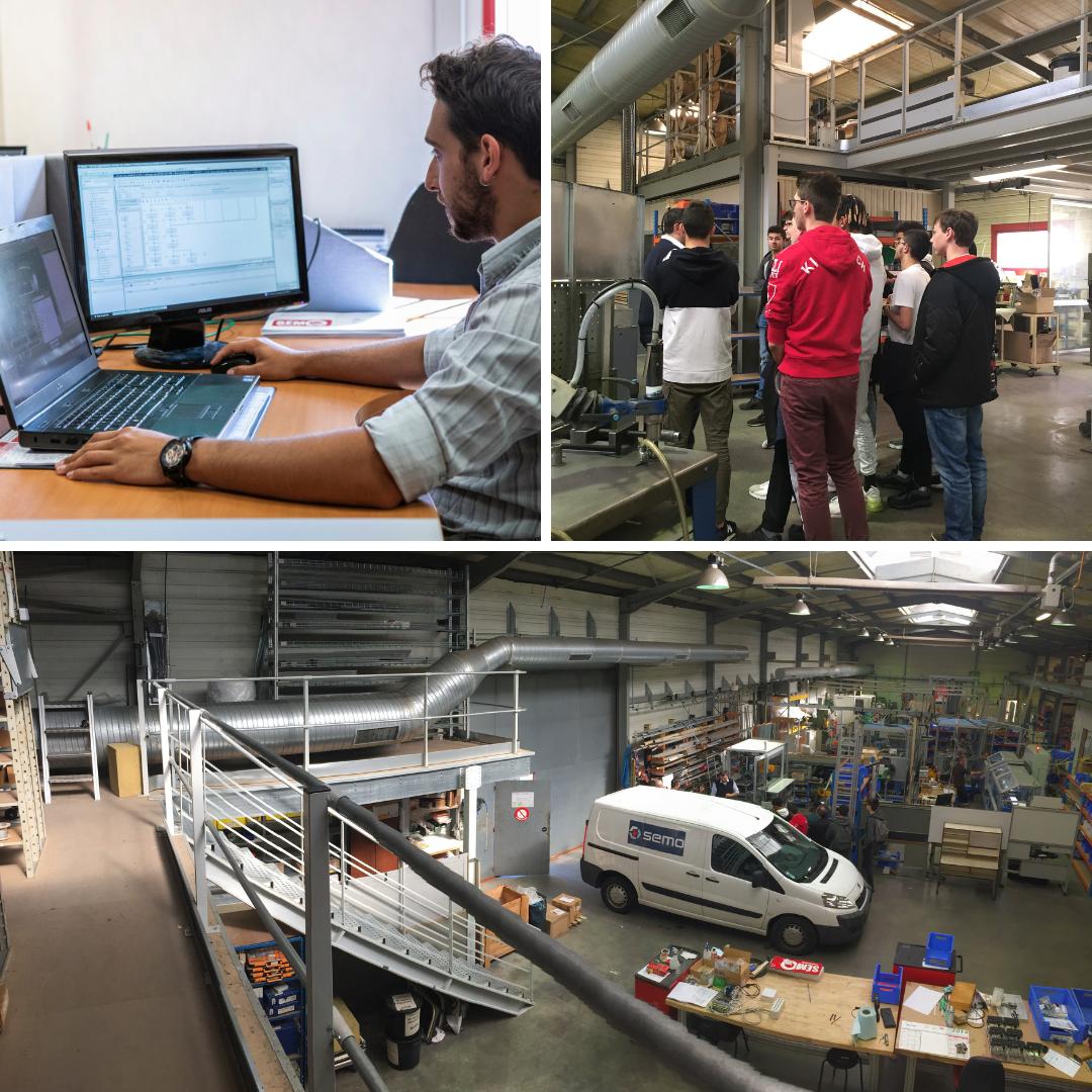 Viste du bureau d'étude et de l'atelier de fabrication SEMO par des lycéens