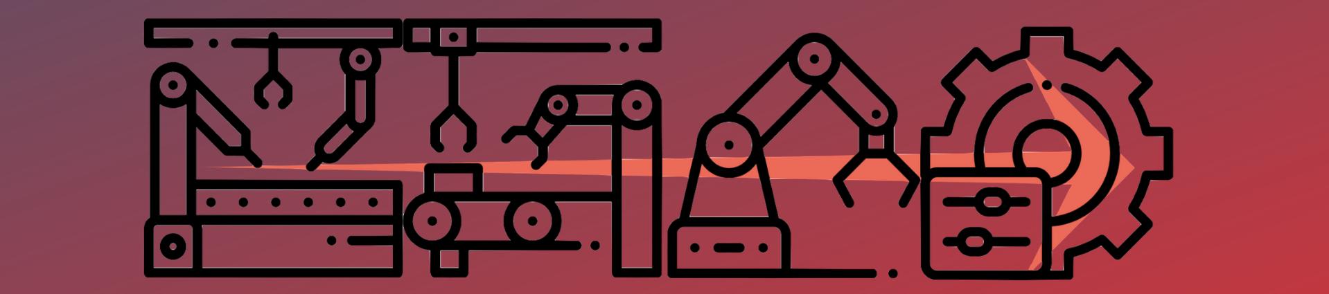 Icônes automatisation et robotique